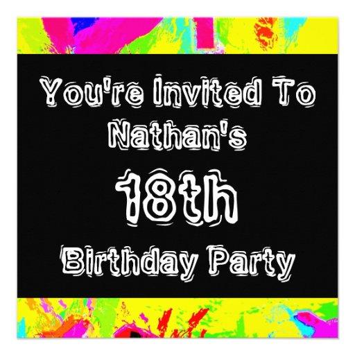 Graffiti ~ Party Invitation