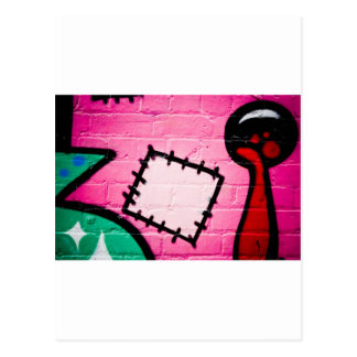 Graffiti Patch and Lolly. Postcard