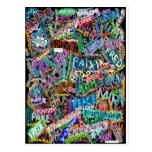 graffiti peace card
