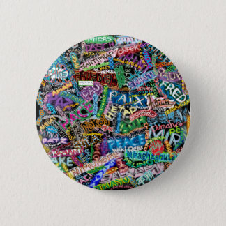 graffiti peace international translation pinback button