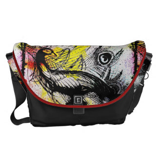 Graffiti Peacock Messenger Bag