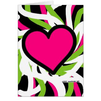 Graffiti Pink Heart Card