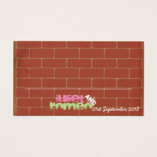 Graffiti Place Card