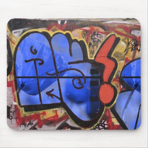 graffiti poppy mouse pad