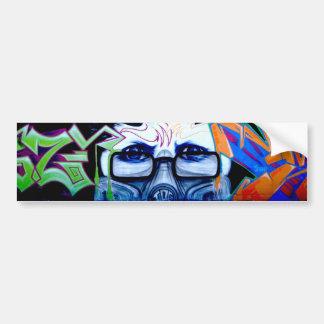 Graffiti Portrait Bumper Sticker