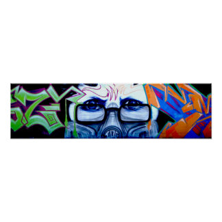 Graffiti Portrait Poster