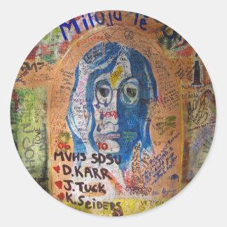 Graffiti - Prague Classic Round Sticker