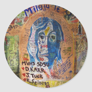 Graffiti - Prague Round Sticker