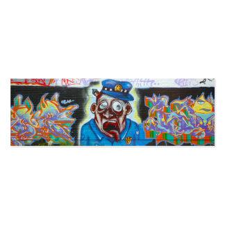 Graffiti profile card mini business card