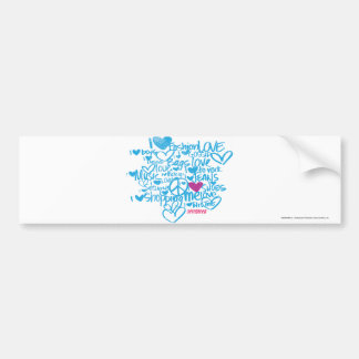 Graffiti Purple/Aqua Bumper Sticker