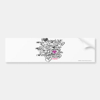 Graffiti Purple Bumper Sticker