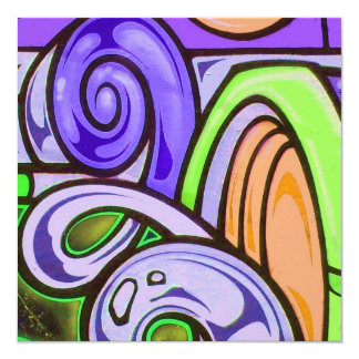 Graffiti Purplerain Birthday Invitation