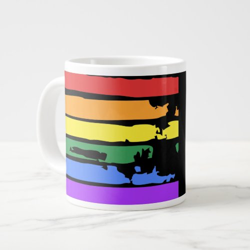 GRAFFITI RAINBOW FLAG GIANT COFFEE MUG