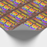 [ Thumbnail: Graffiti Rainbow Look 35th Birthday! & Custom Name Wrapping Paper ]