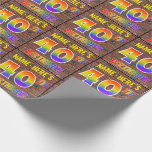 [ Thumbnail: Graffiti Rainbow Look 40th Birthday! & Custom Name Wrapping Paper ]