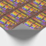[ Thumbnail: Graffiti Rainbow Look 51st Birthday! & Custom Name Wrapping Paper ]