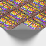 [ Thumbnail: Graffiti Rainbow Look 58th Birthday! & Custom Name Wrapping Paper ]