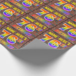 [ Thumbnail: Graffiti Rainbow Look 76th Birthday! & Custom Name Wrapping Paper ]