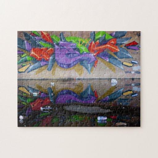 Graffiti Reflection Puzzle