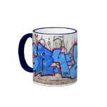 Graffiti  ringer coffee mug