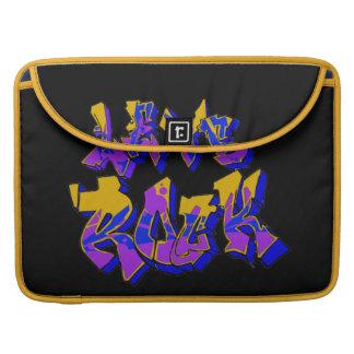 Graffiti Rock Rickshaw Flap Sleeve MacBook Pro Sleeve