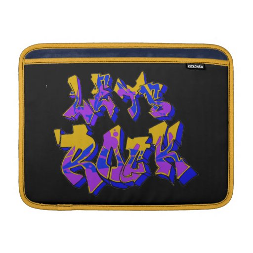 Graffiti Rock Rickshaw Sleeve MacBook Sleeves