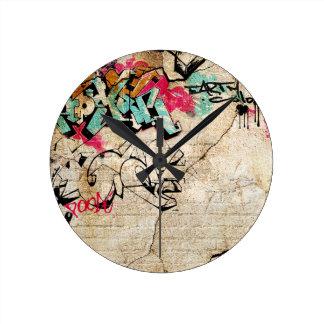 Graffiti Round Clock