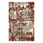 Graffiti Rust Stationery Paper
