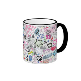Graffiti School young teen fun colorful cool mug