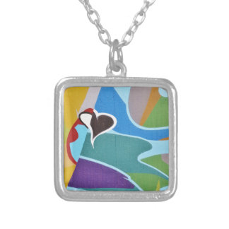 Graffiti Silver Plated Necklace