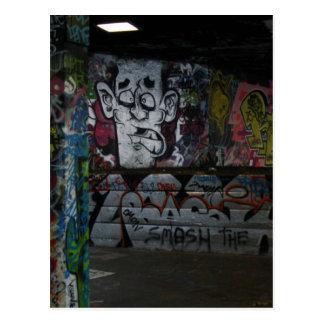 Graffiti silver postcard