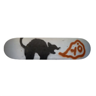 Graffiti skate cat. skateboard