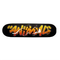 Graffiti Skateboard - Animal inside