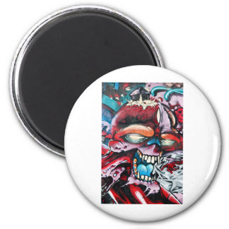 Graffiti Skull 2 Inch Round Magnet