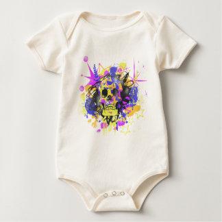Graffiti Skull Baby Bodysuit