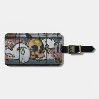 Graffiti Skull Bag Tag