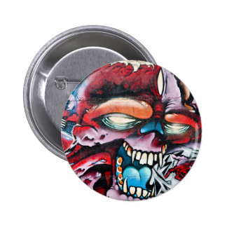 Graffiti Skull Button