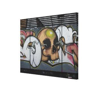Graffiti Skull Canvas Print