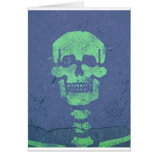 Graffiti Skull Card
