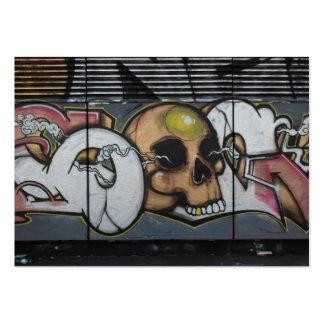 Graffiti Skull Large Business Card