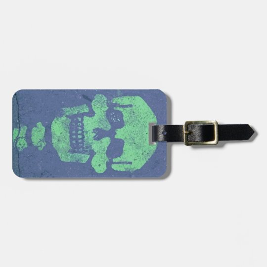 Graffiti Skull Luggage Tag