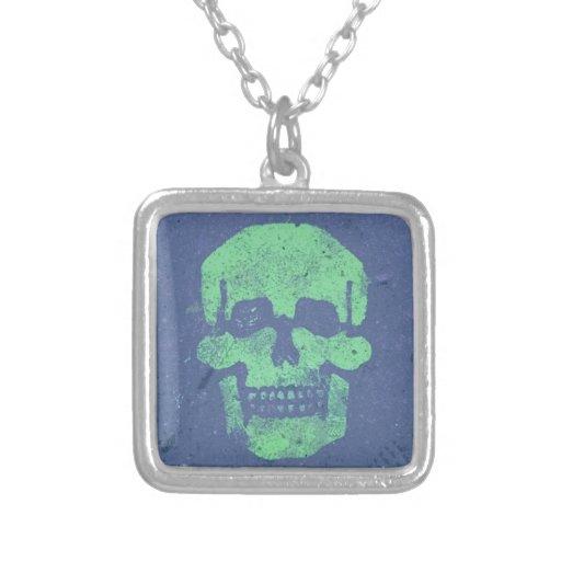 Graffiti Skull Personalized Necklace