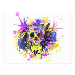 Graffiti Skull Postcard