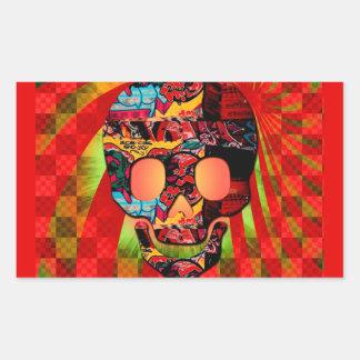 graffiti skull sticker