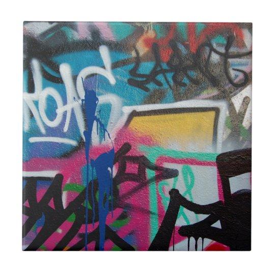 Graffiti Smudge Background Ceramic Tile Zazzle Com