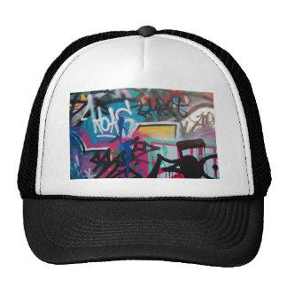 graffiti smudge background trucker hat