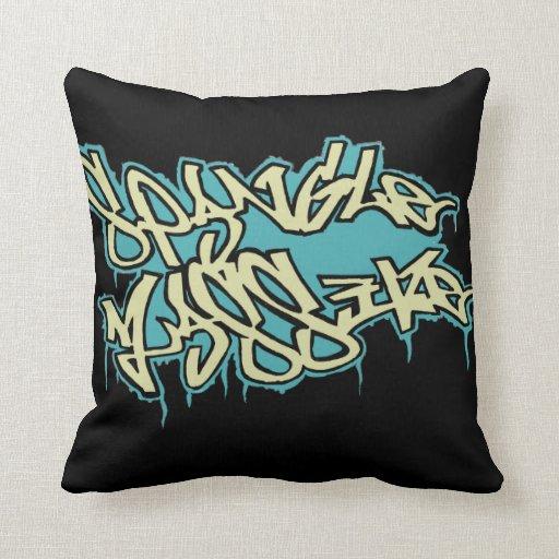 GRAFFITI spanglemassive cushion / mojo pillow