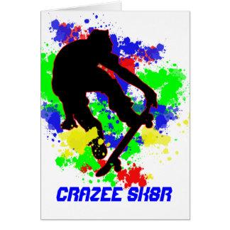 Graffiti Splotch Skateboard Party Card