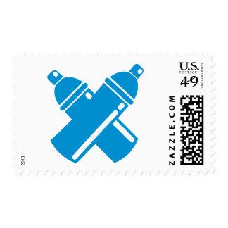 Graffiti sprayer postage stamps