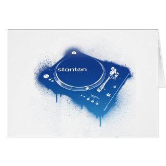 Graffiti Stanton STR8-150 - DJ Deck Turntable Greeting Card